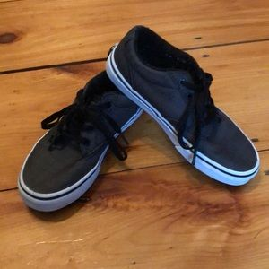 Dark heather grey vans